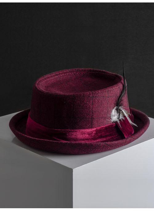 Sombrero--Fedora-Color-VinoMarca-Argento