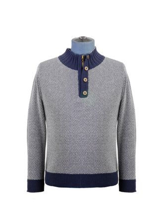 Sweater--Medio-Cierre-Color-Marino-Marca-Aldo-Conti-Jr