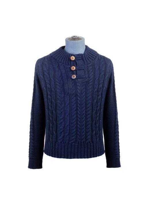 Sweater--Medio-Cierre-Color-Marino-Marca-Aldo-Conti-Jr
